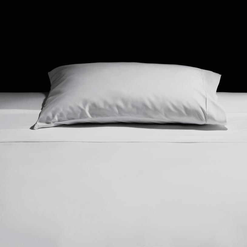 Pillow and crisp sheet